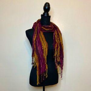 Burgundy Cejon Bohemian style scarf One size